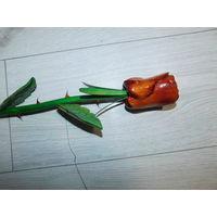 Роза. Деревянный сувенир.