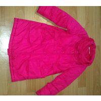 Пальто ярко-розовое деми для девочки