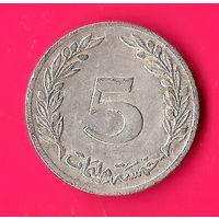 07-40 Тунис, 5 миллимов 1983 г.
