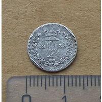 Великобритания, Виктория (1837-1901), 2 пенни 1838 г., серебро