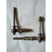 Металлические части старинной дверной ручки.Конец 19-го,начало 20-го в.в.