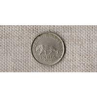 Британская Индия 1/4 рупии 1946 /фауна/тигр/ГЕОРГ VI//(D)