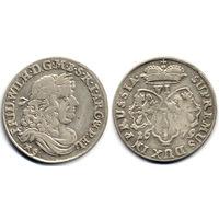 6 грошей (шостак) 1679 HS, Германия, Фридрих Вильгельм. Красивое состояние