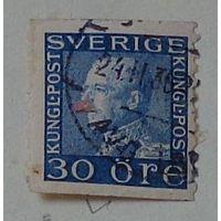 Король Густав V. Швеция. Дата выпуска:1923-11-28