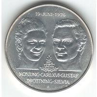 Швеция 5 крон 1976 года. Серебро. Состояние UNC!