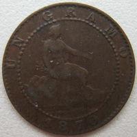 Испания 1 сантим 1870 г. (d)