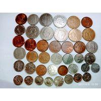 42 монеты разных стран с рубля .