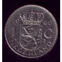 1 Гульден 1969 год Нидерланды