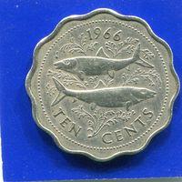 Багамские острова . Багамы 10 центов 1966