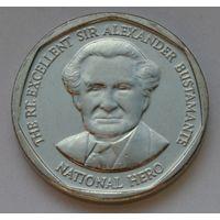 Ямайка 1 доллар, 2015 г. (Форма круг).