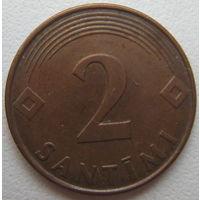 Латвия 2 сантима 2000 г.