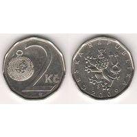 Чехия. 2 кроны 2009 года.
