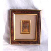 Литография на золотой фольге Клод Моне Claude Monet 1