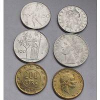 Италия, сборный лот разных монет