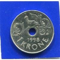 Норвегия 1 крона 1998