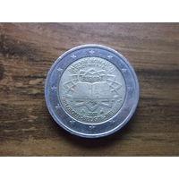 Бельгия 2 евро 2007   50 лет подписания Римского договора