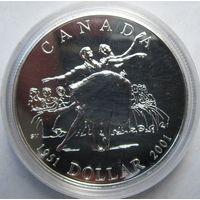 Канада, доллар, 2001, серебро