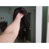 Парик, синтетический волос, 40 см., чёрный, новый. Термостойкий, с эффектом натурального пробора. Почтой отправки делаю только после полной оплаты, оплата пересылки на получателе.