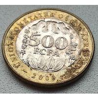 Западная Африка (BCEAO) 500 франков, 2003 (!Состояние! ) 8-10-21