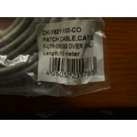 Продам  кабель - DK-1521-100-C0 Patch Cable cat5e F utp crossover(10м, 2xRJ-45) коннектора из металла