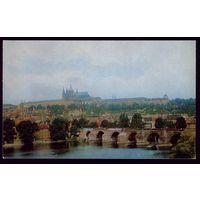 1975 год Чехословакия Прага Мост через Влтаву