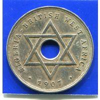 Британская Западная Африка , Нигерия 1 пенни 1907 , нечастая