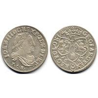 6 грошей (шостак) 1683 TLB, Ян III Собесский, Быдгощ. Ав: портрет в античной тоге. Коллекционное состояние!