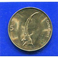 Словения 5 толаров 2000 UNC