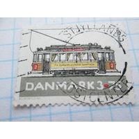 Марка Дания транспорт трамвай