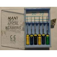 Расширители зубных каналов ручные MANI APICAL REAMERS, JAPAN