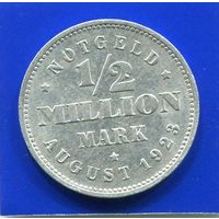 Германия , Гамбург 1/2 миллиона марок 1923 J