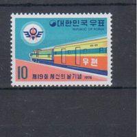 [861] Юж.Корея 1974.Поезда,локомотивы.