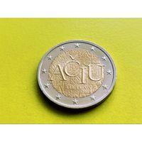 Литва. 2 евро 2015 - Литовский язык.
