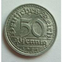 Германия. 50 пфеннигов 1921г.F.