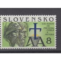 Словакия 1993 г. 1130-летию прихода Кирилла и Мефодия. Алфавит **