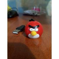 Переходник для Micro SD флешек. (адаптер, картридер) Angry Birds красная птичка. Новая. Отлично для детей и подростков. Птичку можно использовать как обычную USB флешку для хранения и переноски информ