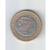 """1 евро 2002 года Греции с буквой """"S"""""""
