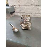 Винтаж серебрение подарок ребенку Бамбино Посеребренная пашотница кодлер