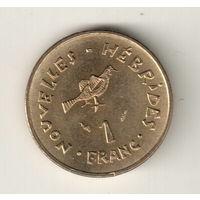 Новые Гебриды 1 франк 1979