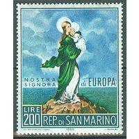Сан Марино 1966, Живопись, Мадонна, Младенец, Европа **