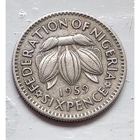 Нигерия 6 пенсов, 1959 4-11-43
