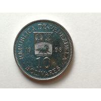 10 боливаров 1998 года. Венесуэла. Монета А2-6-2