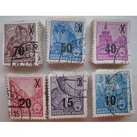 Марки ГДР 1954 г. Стандарт. Цена за 1 шт. (g)