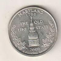 США квотер 2000 штат Мэриленд