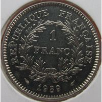 1k Франция 1 франк 1989 В ХОЛДЕРЕ распродажа коллекции