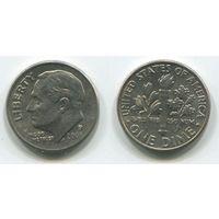 США. 10 центов (2005, буква P)