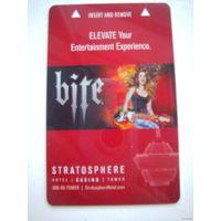Карточка-ключ от номера в отеле Stratoshere, Las Vegas, Nevada