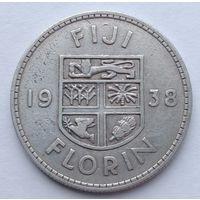 Фиджи 1 флорин 1938, серебро