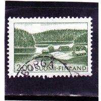 Финляндия.Ми-587. Ферма на берегу озера. 1964.