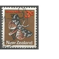 Новая Зеландия. Бабочка Совок. 1970г. Mi#521.